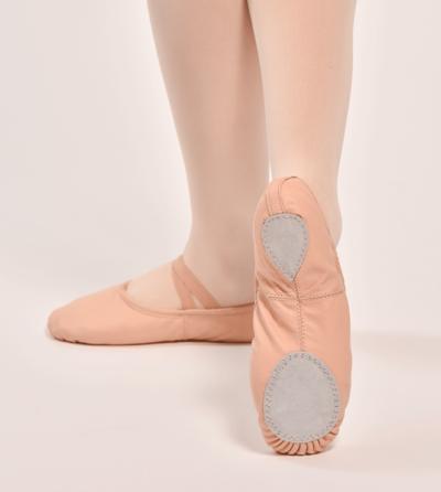 rosa skin ballettsko split sole